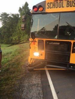 Bus Hit Monday; No Injuries