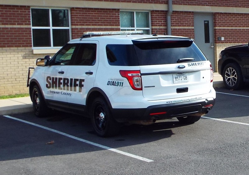 STAFF PHOTO. A Sheriff's Deputy Vehicle at the Detention Center Monday